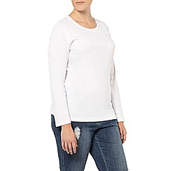 Evans - White long sleeve basic tee