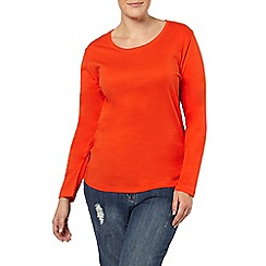 Evans - Orange long sleeve basic tee