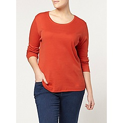 Evans - Orange long sleeve scoop tee