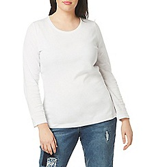 Evans - White 2 pack long sleeves t-shirts