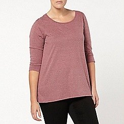 Evans - Pale plum 3/4 sleeve top