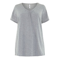 Evans - Grey v neck top