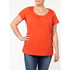 Evans - Red short sleeve top