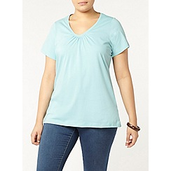 Evans - Turquoise blue short sleeve t-shirt