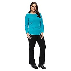Evans - Turquoise long sleeve t-shirt