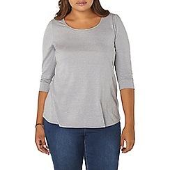 Evans - Grey 3/4 sleeve top