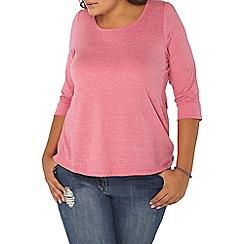 Evans - Pink 3/4 sleeve top