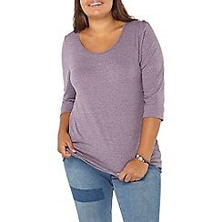 Evans - Purple 3/4 sleeve top