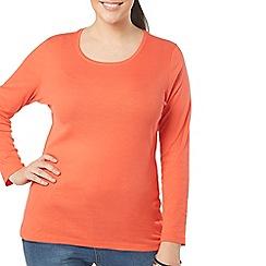 Evans - Orange long sleeve top