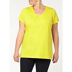 Evans - Yellow v neck top