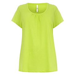 Evans - Lime scoop neck top