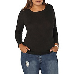 Evans - Black long sleeve top