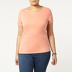 Evans - Peach short sleeve t-shirt