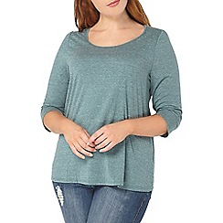Evans - Green 3/4 sleeve top
