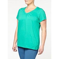 Evans - Green short sleeve top