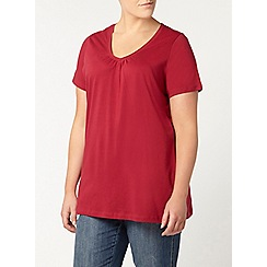 Evans - Red short sleeve t-shirt