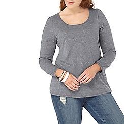 Evans - Grey long sleeve top
