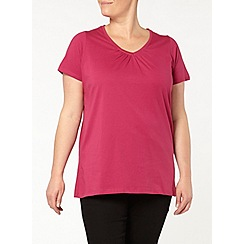 Evans - 2 pack of pink/black tops