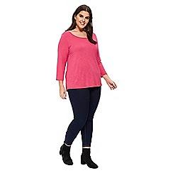 Evans - Pink 3/4 sleeve t-shirt