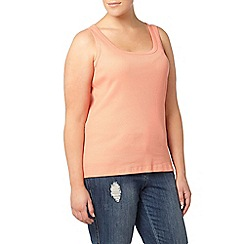 Evans - Coral rib scoop neck vest