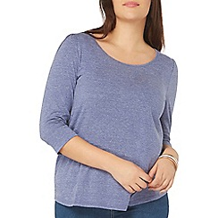 Evans - Blue 3/4 sleeve top