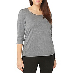 Evans - Grey 3/4 sleeve top