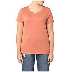 Evans - Peach orange short sleeve t shirt