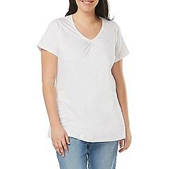 Evans - White short sleeves t-shirt