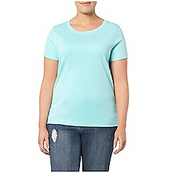 Evans - Turquoise blue short sleeved t-shirt