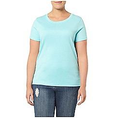 Evans - Turquoise blue short sleeved t-shirt