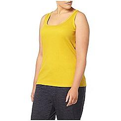 Evans - Yellow rib vest