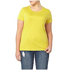 Evans - 2 pack yellow and navy t-shirts