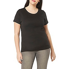 Evans - Black basic t-shirt