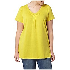 Evans - Lime yellow short sleeve t-shirt