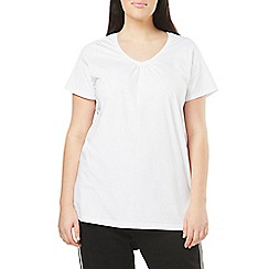 Evans - Black/white v-neck 2 pack t-shirt