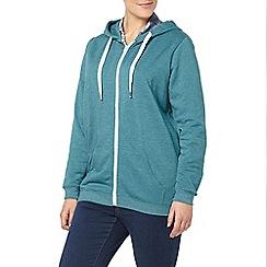 Evans - Teal green basic hoodie
