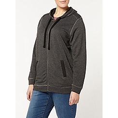 Evans - Grey contrast pocket hoodie