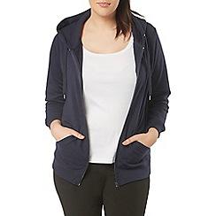 Evans - Navy blue basic hoodie