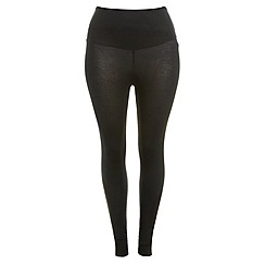 Evans - Black tummy smoothing leggings