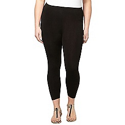Evans - Black crop leggings