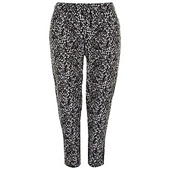 Evans - Black and white tapered trousers