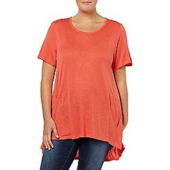 Evans - Orange godet top