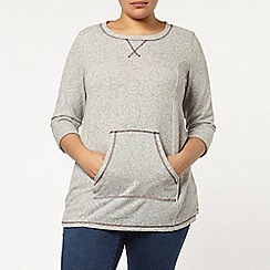 Evans - Grey soft touch tunic