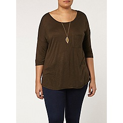 Evans - Khaki relaxed fit top