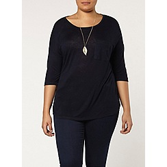 Evans - Navy relaxed fit top
