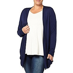 Evans - Navy ruched cardigan