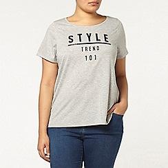 Evans - Grey style slogan t-shirt