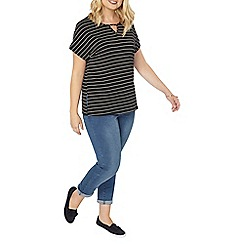 Evans - Black and gold stripe top
