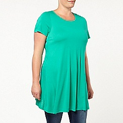 Evans - Green plain swing tunic