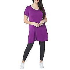 Evans - Purple short sleeve tunic